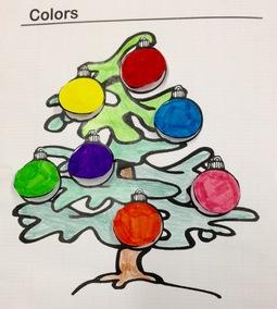 Trace écrite de Noël sur les couleurs