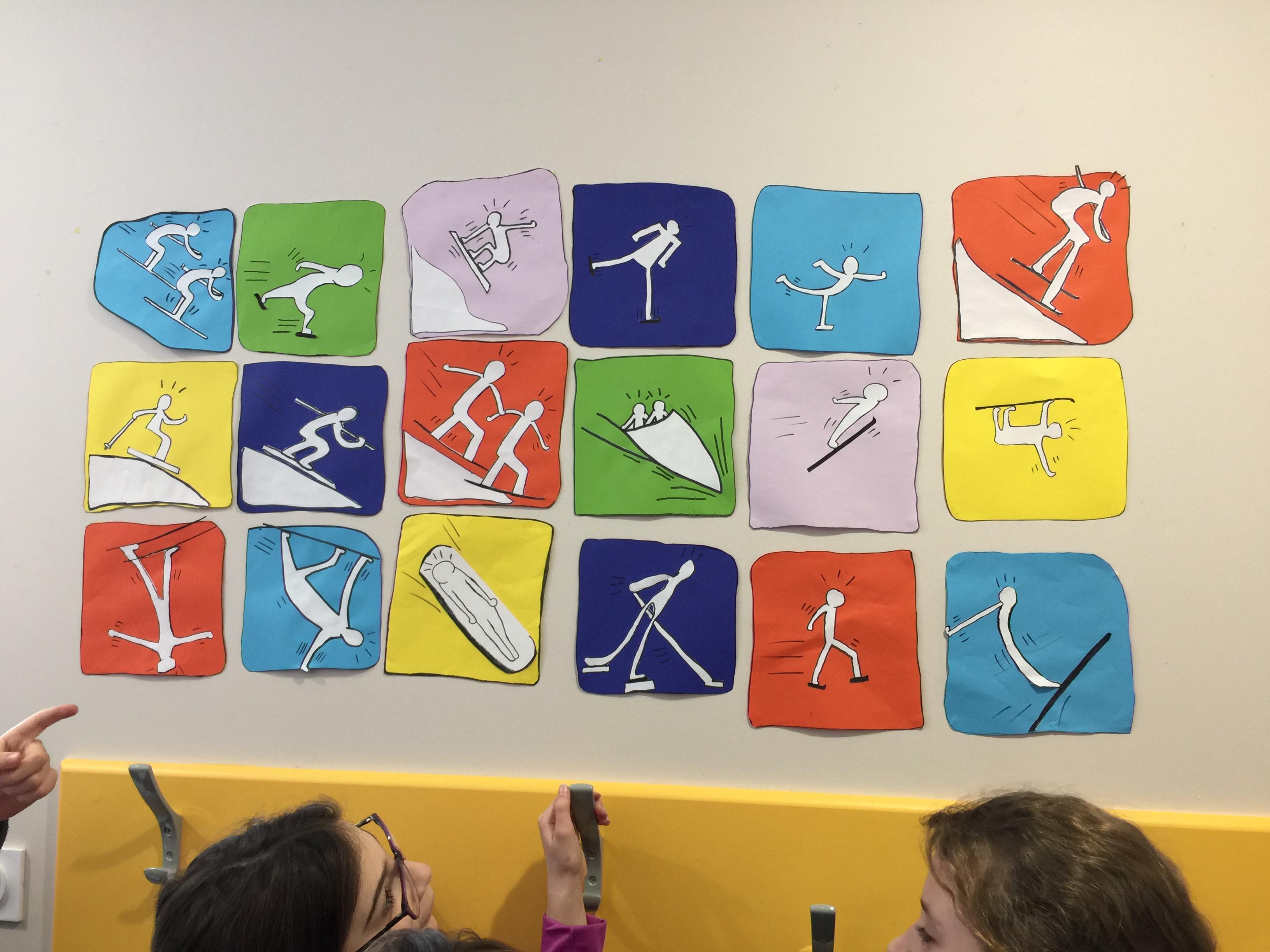 photo de l'école les couleurs primaires bleu jaune rouge A4 Affiche de l'Art des enfants