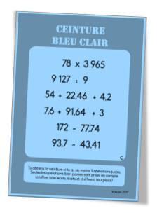bons plans 2017 qualité et quantité assurées original à chaud Ceintures de calcul posé (cycle 3) - Charivari à l'école