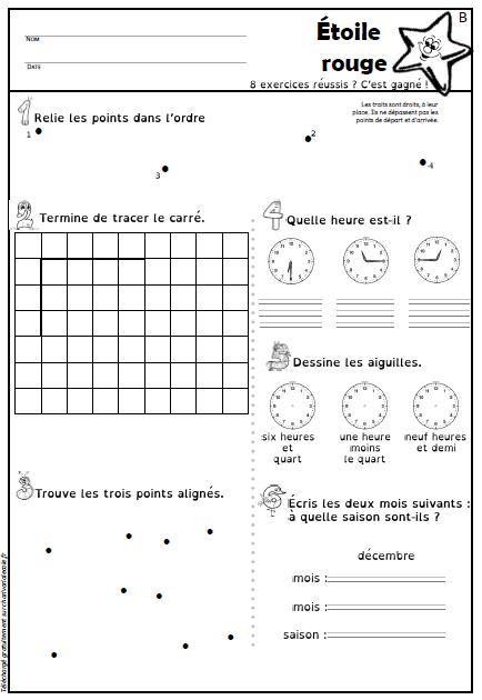 Les Etoiles De Geometrie Et Mesure Pour Les Ce1 Ce2 Charivari A L Ecole