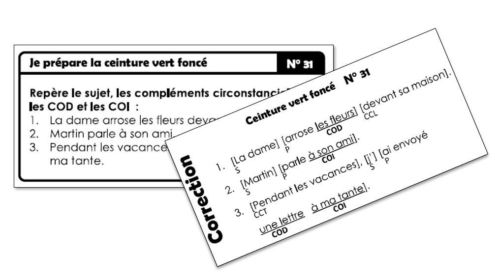 Nouvelles Ceintures De Grammaire V2018 Avec Version Dys